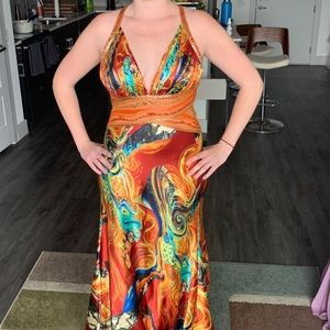 Beautiful, artsy and unique formal dress